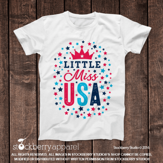 4th of July Shirt - Little Miss USA