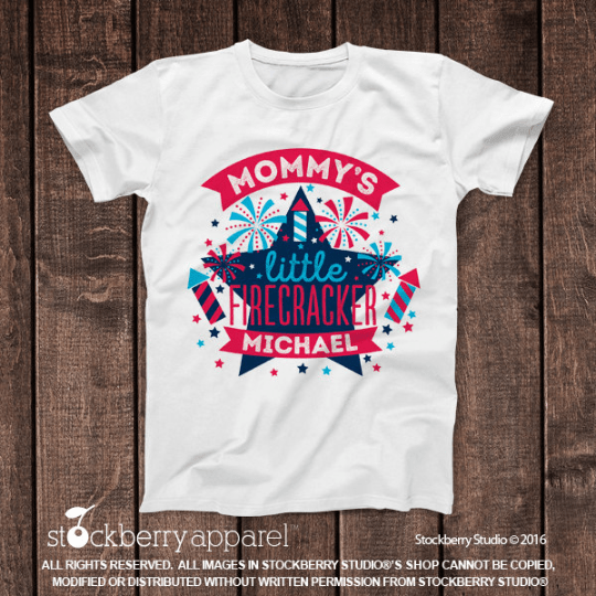 4th of July Shirt - Mommy's Little Firecracker Shirt - Stockberry Studio