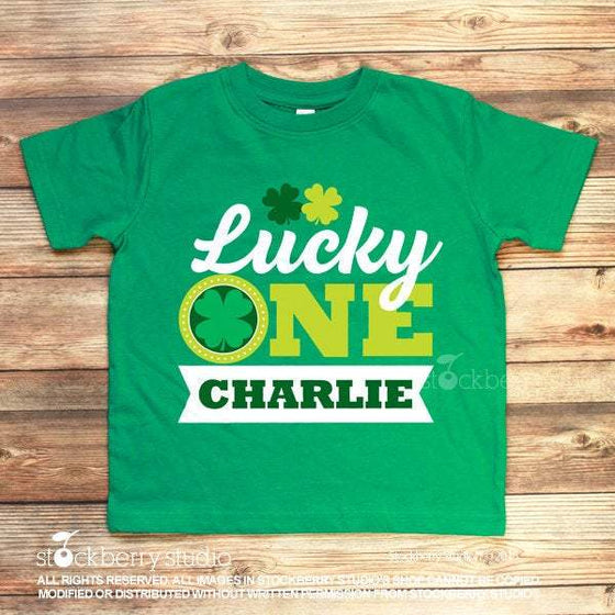 Lucky One First Birthday St Patrick's Day Personalized