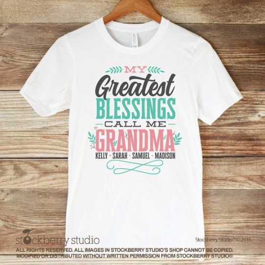 My Greatest Blessings Call Me Mom Shirt Mother's Day Gift Ideas Personalized with Kids Names - Stockberry Studio
