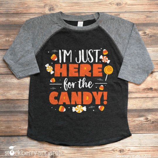 I'm Just Here for the Candy Halloween Shirt