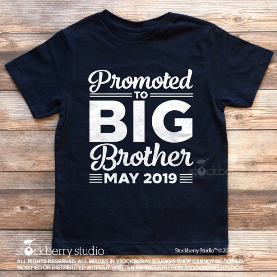 Promoted to Big Brother Pregnancy Announcement Shirt - Stockberry Studio