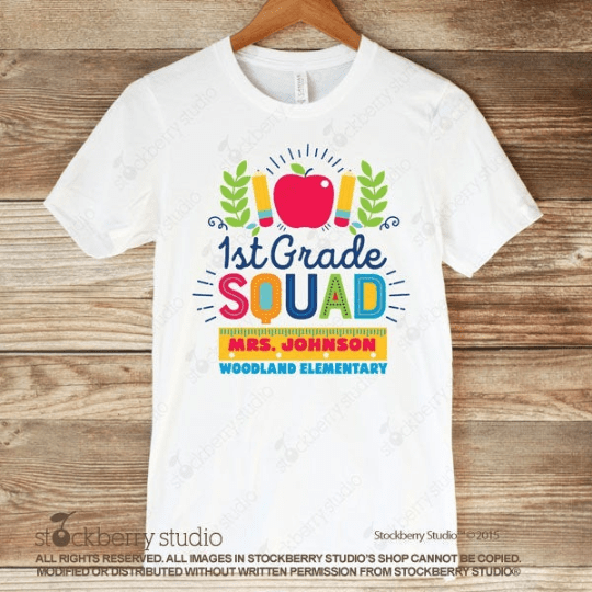 1st Grade Squad Shirt - Teacher Team Shirt