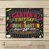 Printable First day of School Sign Chalkboard Girl - Stockberry Studio