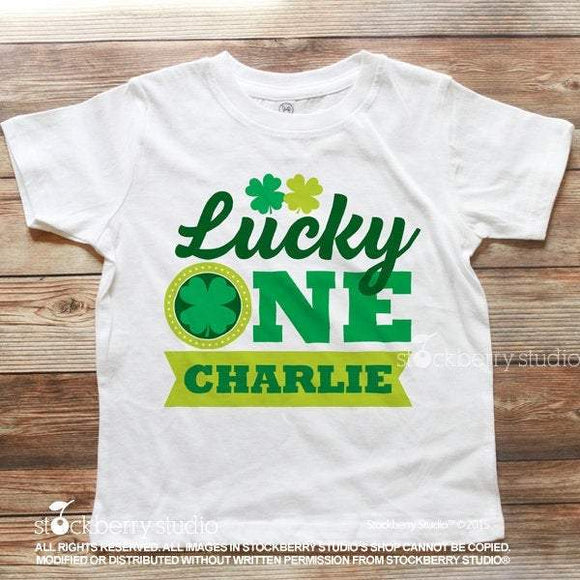 Lucky One, First Birthday - St Patrick's Day Shirt