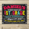 First Day of School Chalkboard Sign Back to School Sign - Stockberry Studio