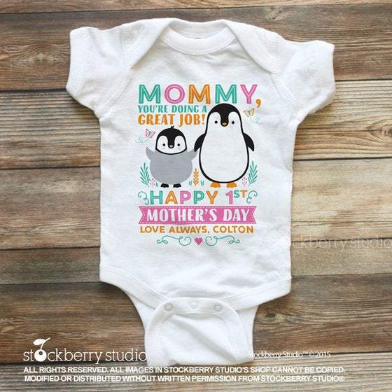 Penguin First Mother's Day Gift - Stockberry Studio