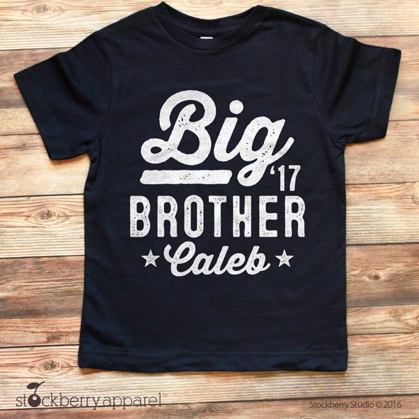 Big Brother Shirt Personalized Pregnancy Announcement Shirt