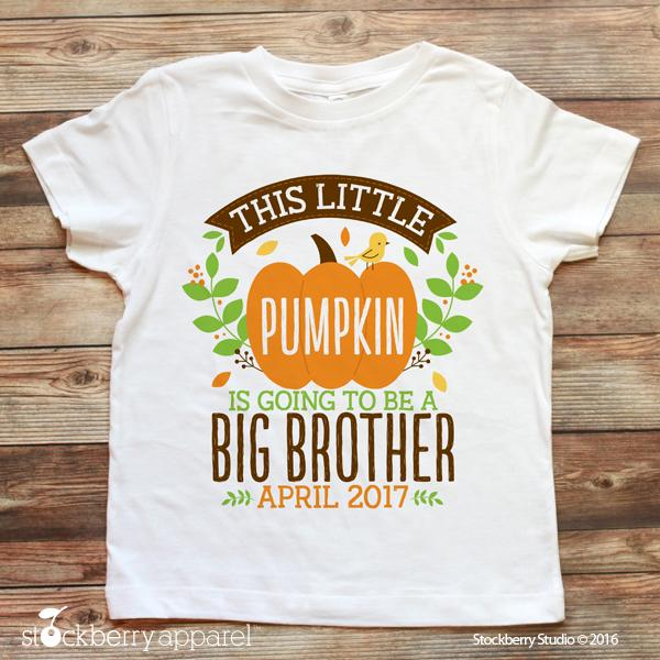 Fall Big Brother Pregnancy Announcement Shirt - Stockberry Studio