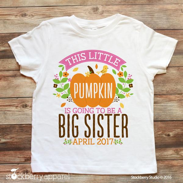 Fall Big Sister Pregnancy Announcement Shirt