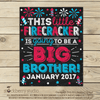 4th of July Big Brother Pregnancy Announcement Sign - Stockberry Studio