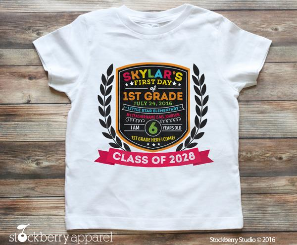 First Day of School Shirt Personalized School Chalkboard