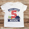 Girl Camping Birthday Shirt Personalized