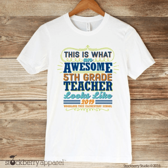 Awesome Teacher Shirt - Stockberry Studio