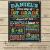 First Day of School Chalkboard Sign Printable - Stockberry Studio