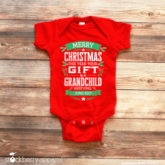 Christmas Pregnancy Announcement to Grandparents - Stockberry Studio