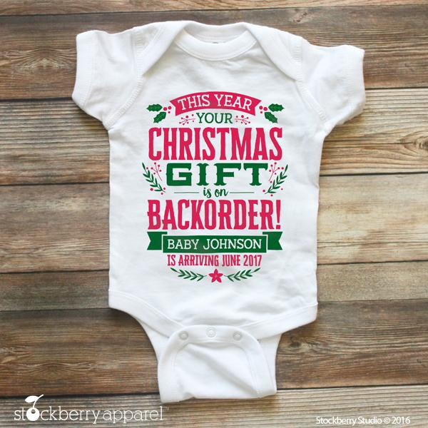 Christmas Pregnancy Announcement to Family - Stockberry Studio