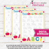 Alphabet Tracing Worksheet - Homeschool - Preschool - Kindergarten