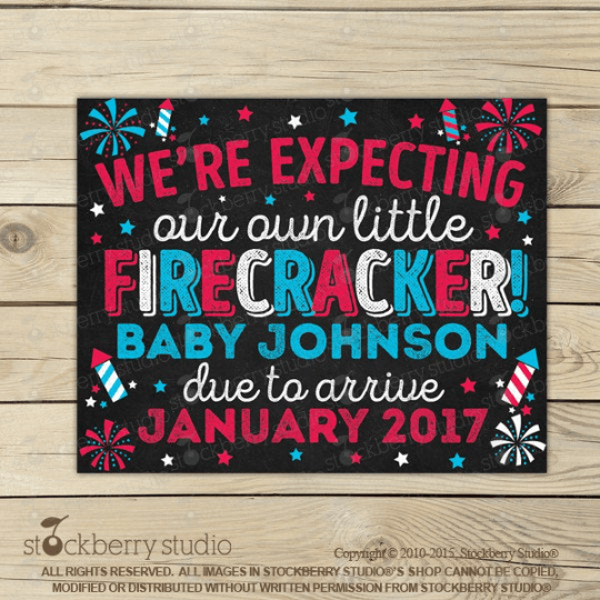 4th of July Pregnancy Announcement Sign
