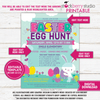 Easter Egg Hunt Flyer Printable Easter Party Invitation - Stockberry Studio