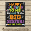 Halloween Pregnancy Announcement Sign - Stockberry Studio