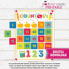 Count by 5 Math Puzzle Learning Numbers - 1st Grade - Homeschool Activity - Stockberry Studio