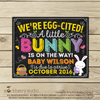 Easter Pregnancy Announcement Chalkboard Sign - Stockberry Studio