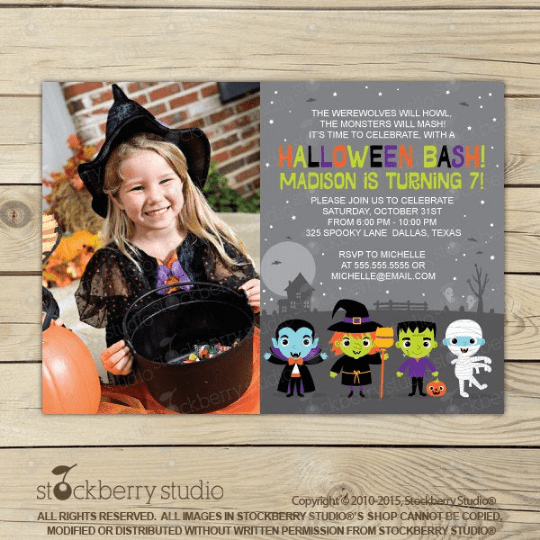 Halloween Birthday Printable Invitation