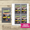 Halloween Glow Stick Card - Printable - Stockberry Studio