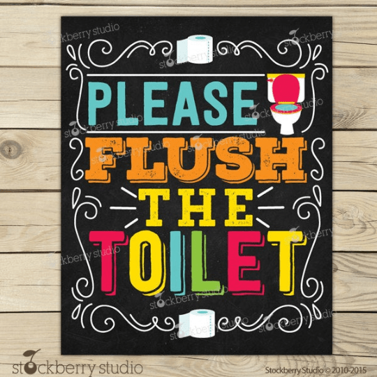 Flush the Toilet Sign - Stockberry Studio