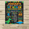 Dinosaur First Day of School Personalized Sign - Stockberry Studio