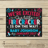 4th of July Pregnancy Announcement Sign - Stockberry Studio