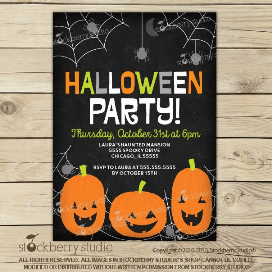 Kids Halloween Party Invitation - Stockberry Studio