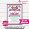 Muffins with Mom Invitation PTA School Flyer Mother's Day Brunch PTO Fundraiser Lunch Mom Appreciation Breakfast - Stockberry Studio