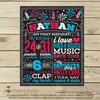 4th of July 1st Birthday Printable Chalkboard Sign - Stockberry Studio