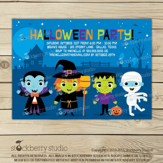 Halloween Party Invitation - Stockberry Studio