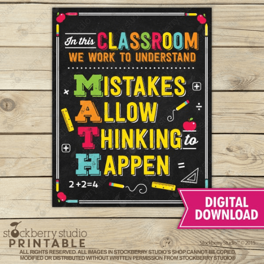 Math Teacher Classroom Poster - Stockberry Studio