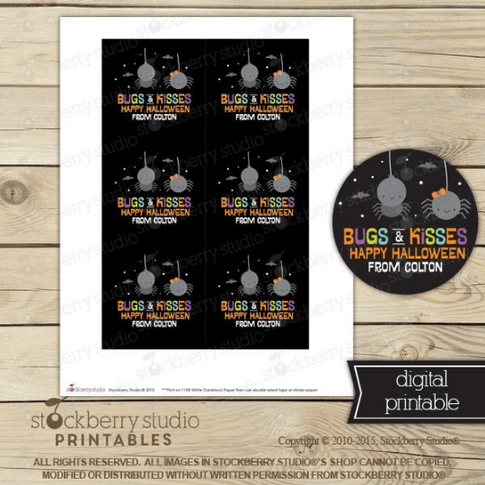 Halloween Favor Tags - Printable - Stockberry Studio