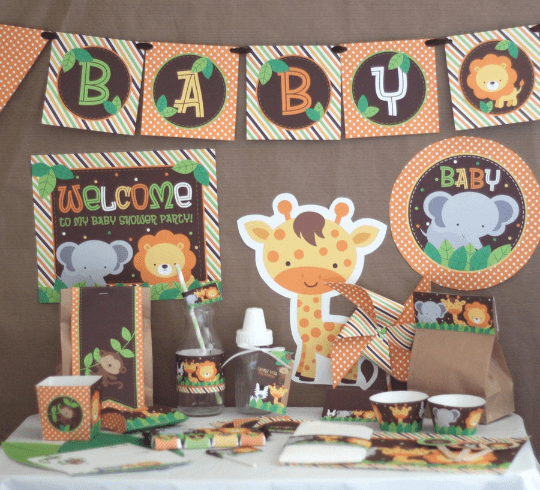 Jungle Safari Baby Shower Party Kit - Stockberry Studio