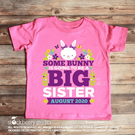Easter Big Sister Announcement Shirt