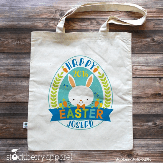 Easter Bag - Easter Bunny Tote - Easter Gifts for Toddlers