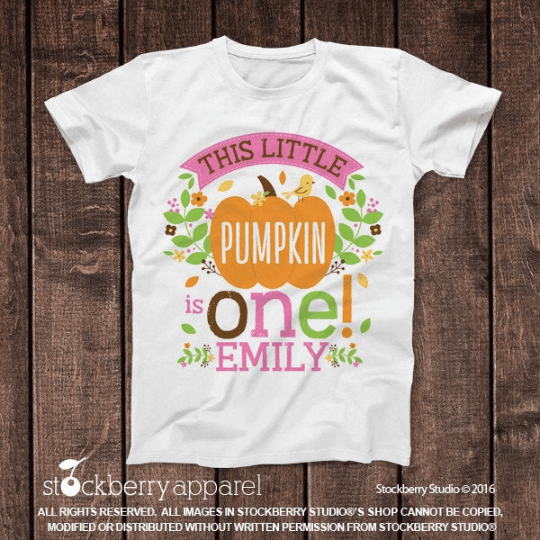 Fall Little Pumpkin Birthday Shirt