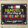 First Day of School Chalkboard Sign - First Day of School Sign - Stockberry Studio