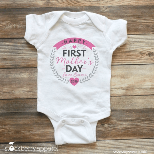 Happy First Mothers Day Shirt - Stockberry Studio