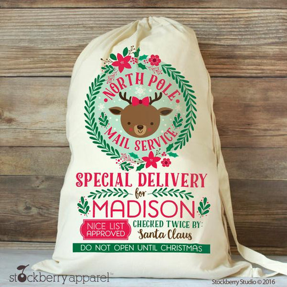Personalized Santa Sack & Bags - Stockberry Studio