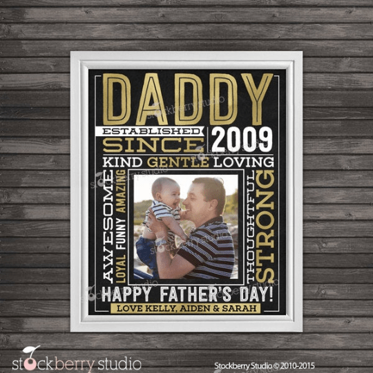 Father's Day Gift Wall from Kids - Personalized