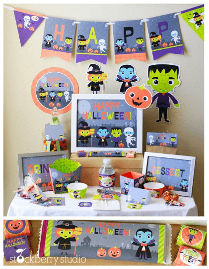 Halloween Printable Party Kit Decorations - Stockberry Studio