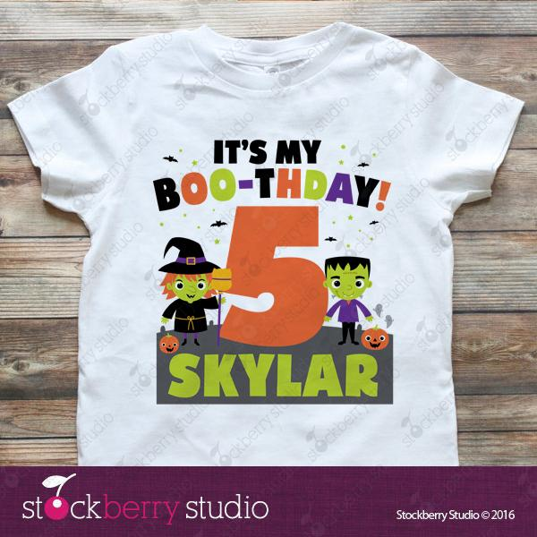 Halloween Birthday Shirt - Stockberry Studio