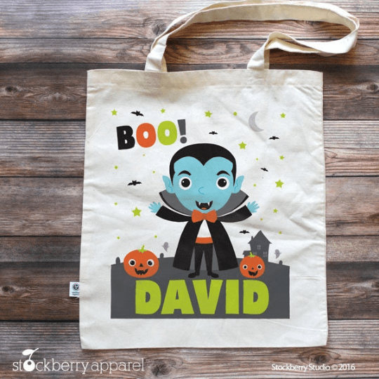 Trick or Treat Bag - Halloween Tote Bag for Kids - Stockberry Studio