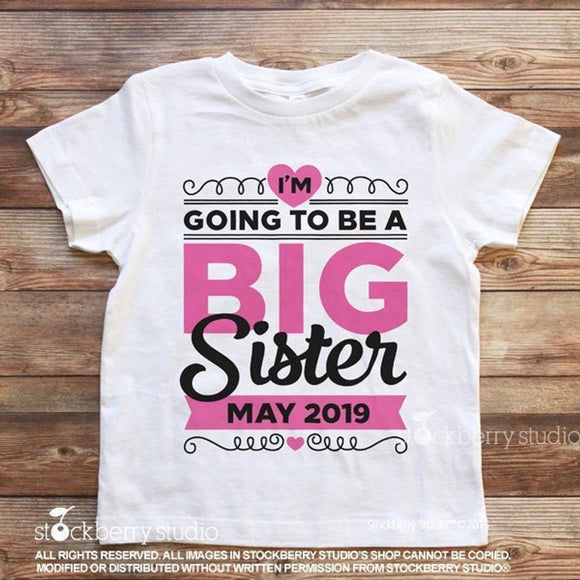 I'm Going to be a Big Sister Again Pregnancy Announcement Shirt - Stockberry Studio